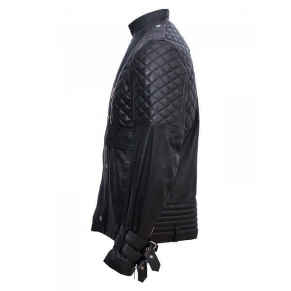 Men's Chic Leather Jacket in Black
