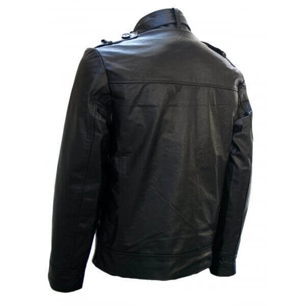 Men's Sleek Soft Crop Biker Leather Jacket