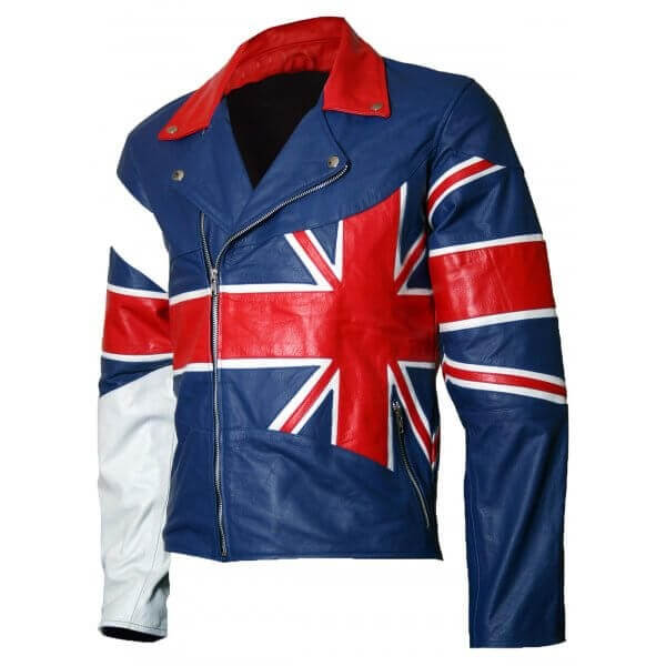 Men's Union Jack Flag Leather Jacket