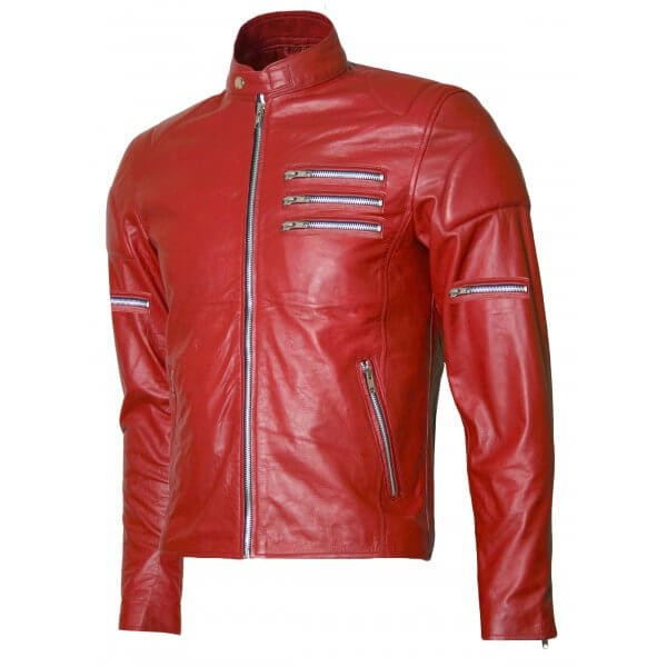 Men's Zipper Designing Stylish Biker Leather Jacket