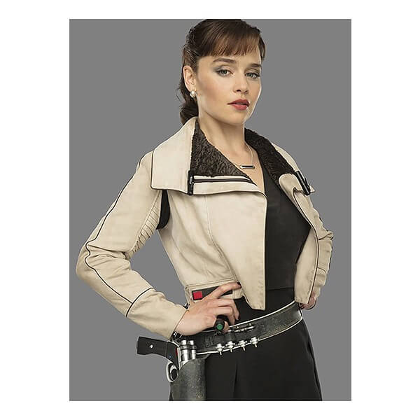 Qi'ra Women's Cropped Leather Jacket From Star Wars