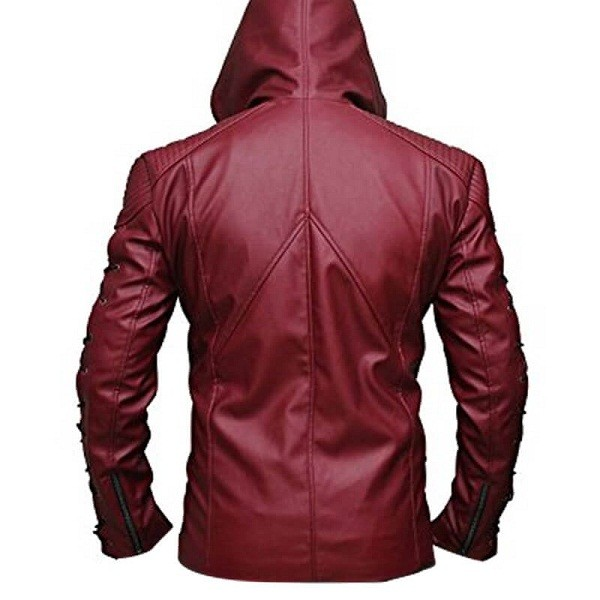 Red Arrow Leather Jacket (Available For Men and Women)