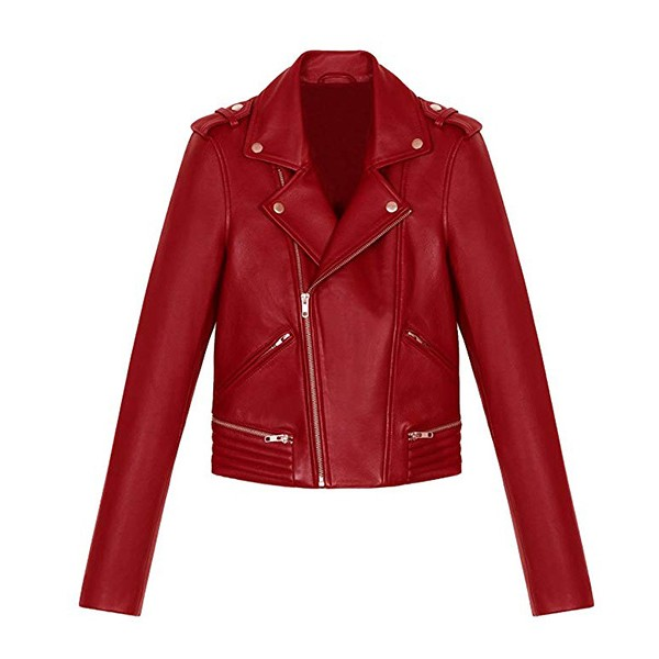 Red Cheryl Blossom Southside Serpents Leather Jacket for Women