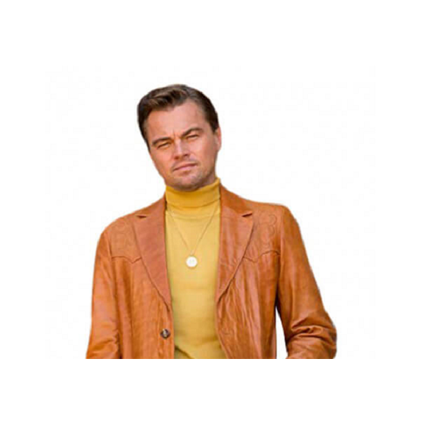 Rick Dalton Light Brown Leather Blazer from Once Upon A Time In Hollywood
