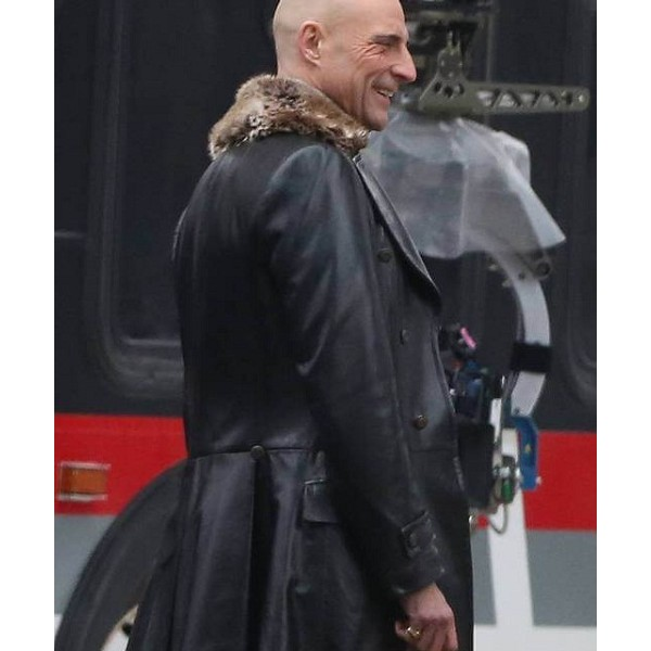 Shazam Dr Thaddeus Sivana Full Length Leather Coat