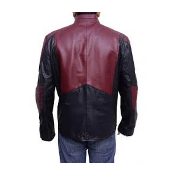 Smallville Black and Maroon Superman LeatherJacket