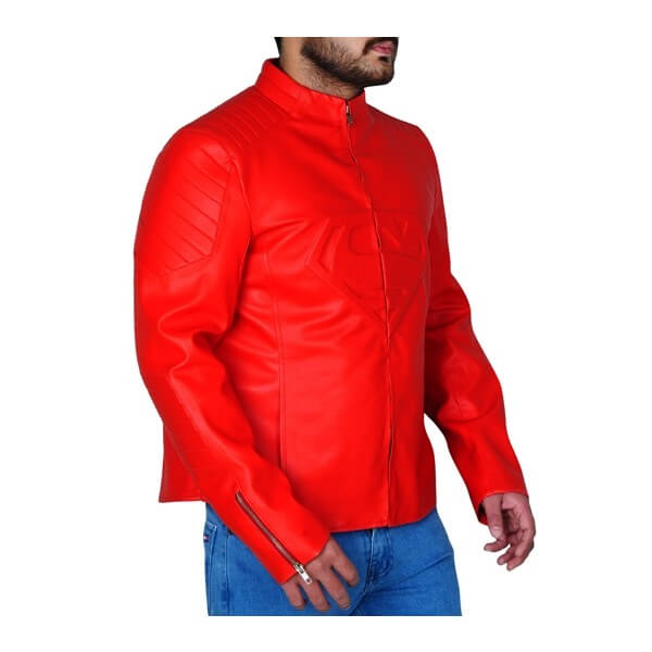 Smallville Full Red Superman Leather Jacket