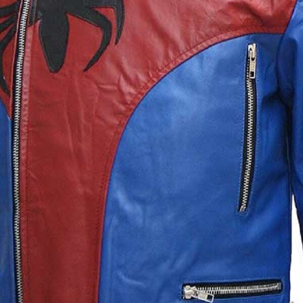 Spiderman Biker Leather Jacket for Men