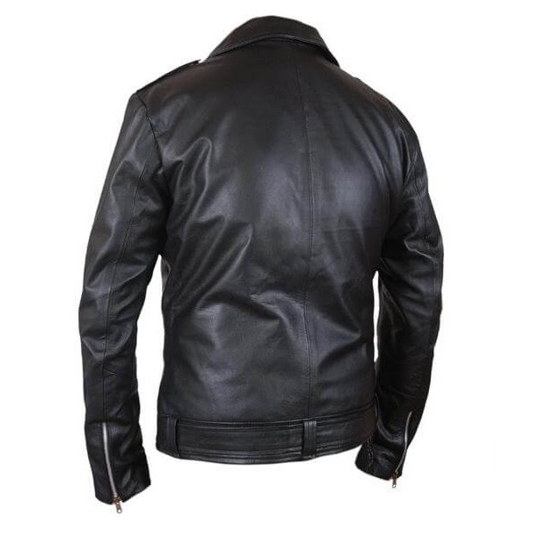 The Walking Dead Negan Black Leather Motorcycle Jacket