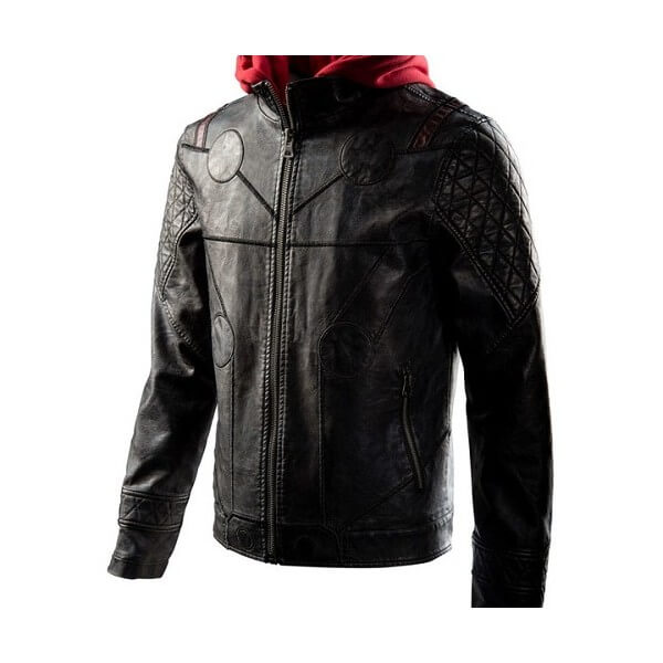 Thor Hooded Leather Jacket Avengers Endgame