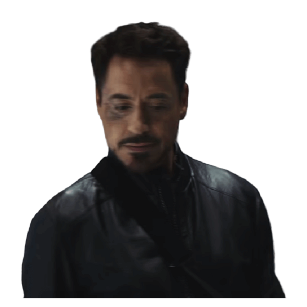 Tony Stark Black Leather Jacket Avengers Civil War