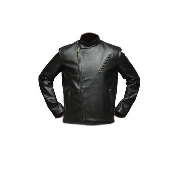 Tony Stark Black Leather Jacket From Iron Man Movie