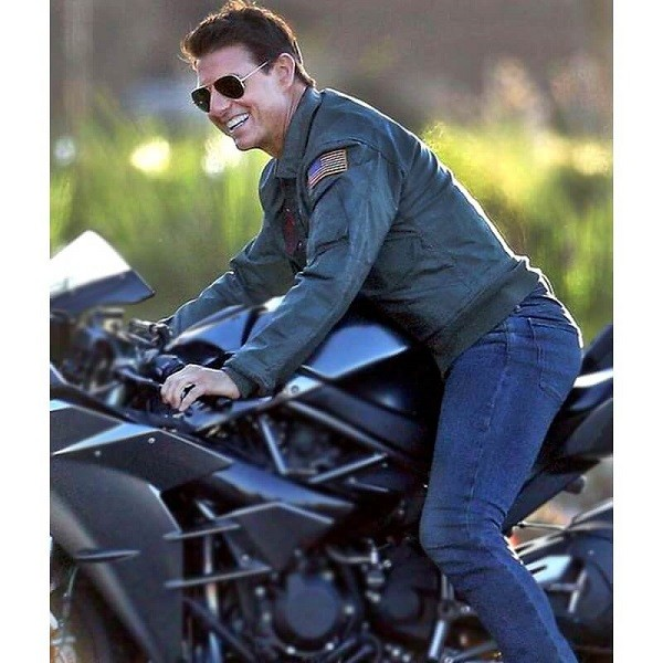 Top Gun 2 Maverick Tom Cruise Leather Jacket