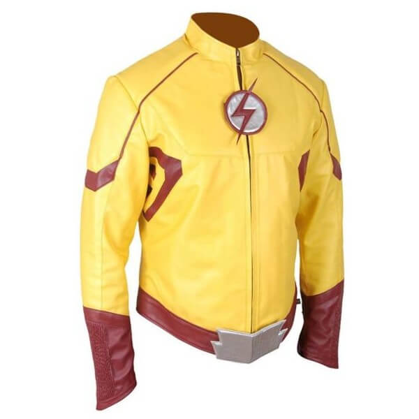 Wally West Kid Flash Yellow Leather Jacket