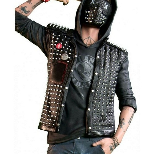 Watch Dogs 2 Wrench Studded Leather Vest