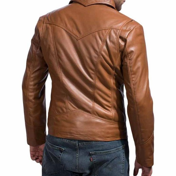 Wolverine Long Pocket Leather Jacket Brown from X Men